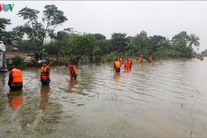 Miền Trung ngập lụt ở nhiều nơi, 2 người chết và mất tích