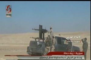 SAA dùng nhiều loại vũ khí đánh thẳng vào căn cứ phiến quân ở bắc Hama