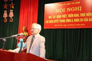 Hơn 500 cán bộ, đảng viên Bắc Từ Liêm quán triệt Nghị quyết T.Ư 8
