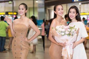 Tiểu Vy đẹp rạng rỡ về nước, 'hội chị em Hoa hậu' ra đón tận sân bay