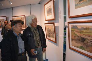 Khai mạc triển lãm tranh của họa sĩ Nguyễn Thụ