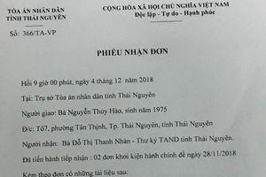 Khởi kiện Chủ tịch thành phố Thái Nguyên ra tòa, cô giáo có đòi được công lý?
