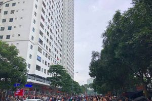 Cháy tại chung cư HH Linh Đàm, một người tử vong