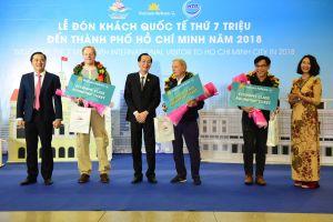 TP.HCM đón vị khách quốc tế thứ 7 triệu trong năm 2018