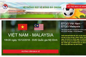 Cẩn thận với những trang web bán vé xem chung kết AFF Cup giả mạo