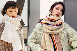 Mùa đông, người yêu có thể không có nhưng khăn len phải có vài chiếc!