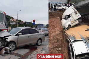 Xe Container gây tai nạn liên hoàn trước cổng viện Sản Nhi Quảng Ninh