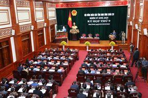 Kỳ họp thứ 9, HĐND tỉnh khóa XIV: HĐND tỉnh nghe các báo cáo và tiến hành lấy phiếu tín nhiệm đối với các chức danh do HĐND tỉnh bầu