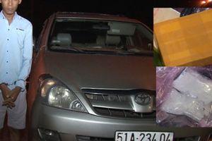 Chặn ô tô mang heroin, ma túy đá từ TP HCM về Vĩnh Long