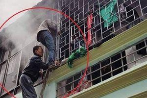 Phá cửa giải cứu nam thanh niên trong ngôi nhà bị cháy