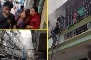 Dân phá cửa lao vào đám cháy cứu nam thanh niên bị ngạt khói ở Hà Nội