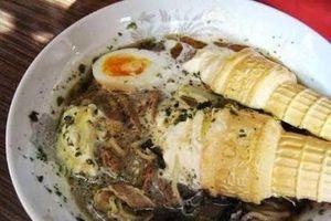 Kỳ lạ món mì ramen trộn kem ốc quế khó hiểu của người Nhật