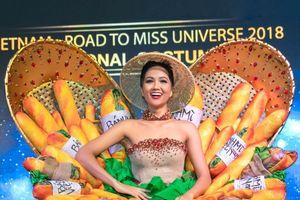 H'Hen Niê trình diễn trang phục truyền thống mang tên 'Bánh mì' tại Miss Universe