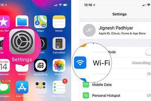 Cách chuyển iPhone thành điểm phát Wi-Fi với iOS 12
