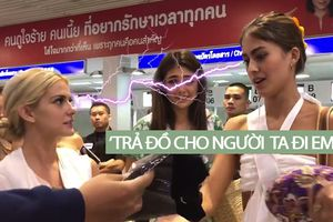 HOT: Hoa hậu Mỹ liếc xéo 'dằn mặt' khi thí sinh Colombia 'kém sang giật đồ' của fan Thái