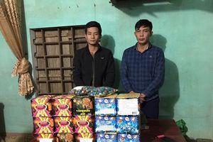 Hà Tĩnh: Bắt giữ 2 đối tượng mua bán vận chuyển pháo trái phép