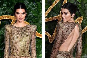 'Chân dài' Kendall Jenner gợi cảm với đầm lấp lánh trên thảm đỏ