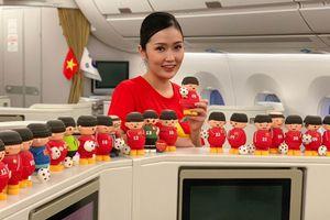 Tuyển Việt Nam đang về nước trên khoang hạng thương gia của Vietnam Airlines