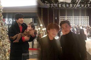 Lee Jong Suk gặp lại người quen của 'High Kick 3' - Chanyeol và Kai (EXO) trông cực dễ thương với bạn diễn nhí khi quay 'Superman Returns'