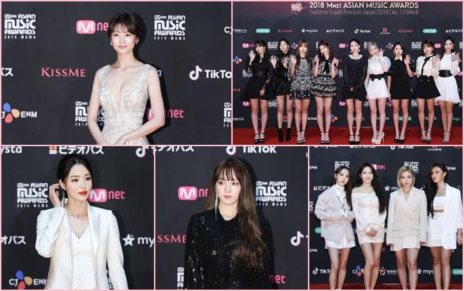 Thảm đỏ 'MAMA 2018' Nhật Bản: Jung So Min hở bạo, Lee Sung Kyung - Lee Da Hee tỏa sáng cùng TWICE