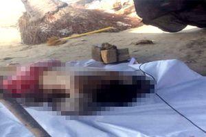 Thi thể nam thanh niên bị buộc đá vào chân ở bờ biển Mũi Né