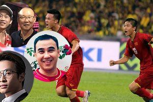 NSƯT Hoài Linh, Hà Anh Tuấn cùng nhiều sao Việt động viên đội tuyển Việt Nam sau trận hòa với Malaysia