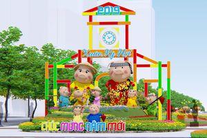 Phối cảnh đường hoa Tết Kỷ Hợi 2019 ở Sài Gòn