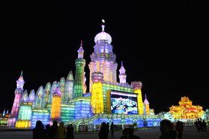 Háo hức chờ đợi lễ hội băng đăng lớn nhất thế giới tại Cáp Nhĩ Tân, Trung Quốc