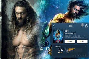Điểm Douban của Aquaman đạt đến 8,5 điểm cùng hàng loạt cơn mưa lời khen từ khán giả Trung Quốc