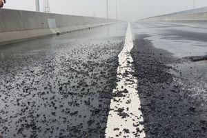 Cao tốc Đà Nẵng - Quảng Ngãi tiếp tục bị hư hỏng là do thời tiết