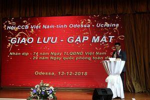 Ấm áp buổi giao lưu Hội Cựu Chiến binh Việt Nam tại Ukraina