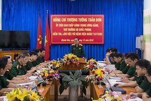 Thượng tướng Trần Đơn kiểm tra, làm việc với Bệnh viện Quân y 87