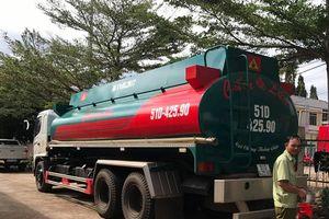 Tạm giữ xe bồn chở 20.000 lít xăng không nguồn gốc