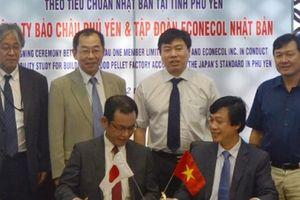 Bảo Châu (Phú Yên) hợp tác với Econecol (Nhật Bản) lĩnh vực viên nén gỗ năng lượng