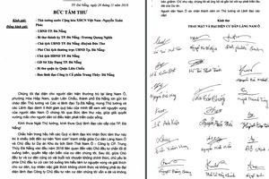 Làm rõ bức 'tâm thư' người dân ở Đà Nẵng gửi Thủ tướng