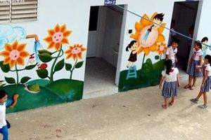 Ngắm những nhà vệ sinh trường học đã được 'lột xác'