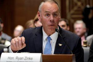 Bộ trưởng Nội vụ Mỹ Ryan Zinke sẽ rời nhiệm sở cuối năm nay