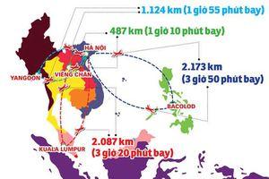 Các tuyển thủ Việt Nam đã phải di chuyển hơn 11.000 km tại AFF Cup 2018
