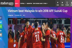 Báo đài, cổ động viên khắp Đông Nam Á đồng loạt đưa tin chúc mừng đội tuyển Việt Nam vô địch AFF Cup 2018