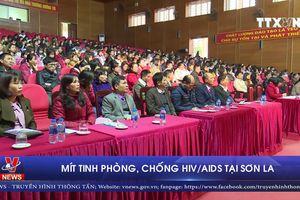 Mít tinh phòng, chống HIV/AIDS tại Sơn La