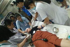 1 phụ nữ bị thương vùng đầu do pháo sáng