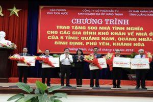Trao tặng 500 ngôi nhà tình nghĩa cho người nghèo