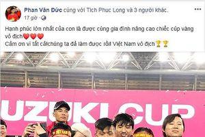 Facebook các tuyển thủ 'dậy sóng' với những sẻ chia hạnh phúc sau chức vô địch