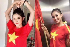 Hoa hậu Tiểu Vy, Á hậu Huyền My phấn khích 'đi bão' mừng Việt Nam vô địch AFF Cup 2018