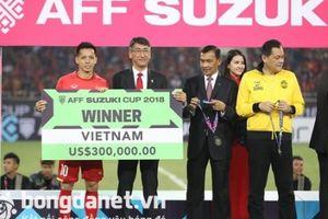 Tuyển Việt Nam nhận thưởng 'tiền tấn' hậu vô địch AFF Cup 2018