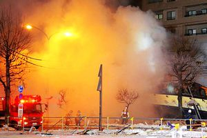 Kinh hoàng nhà hàng Nhật phát nổ tan hoang khi khách đang dùng bữa