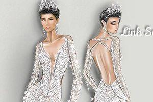 H'Hen Niê và chiếc váy dạ hội đính 3.000 viên đá ở chung kết HHHV