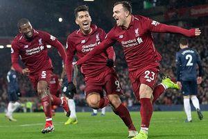 Shaqiri 'lên đồng', Liverpool đè bẹp M.U trong trận derby nước Anh