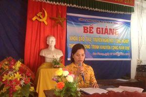 Vĩnh Phúc : Bế giảng khóa 'Đào tạo, truyền nghề may công nghiệp'
