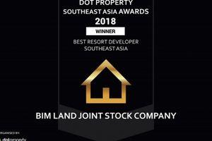 BIM Land được vinh danh Nhà phát triển bất động sản nghỉ dưỡng tốt nhất Đông Nam Á 2018